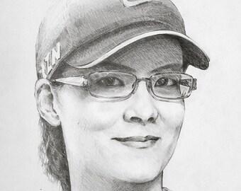 Custom Portrait, Custom Pencil Sketch From Your Photo, Hand Drawn, Pet Portrait , Child Portrait, Baby portrait