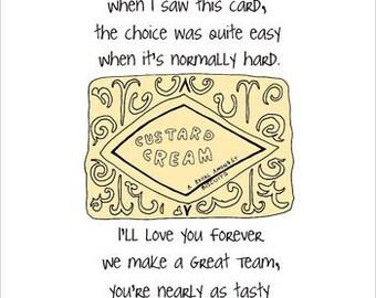 Custard Cream Birthday Card