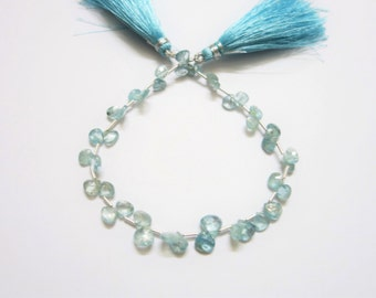 Natural Blue Zircon Faceted Hearts (AA Quality)