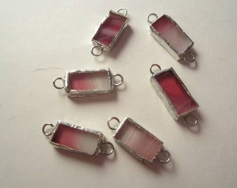 Bright Pink Stained Glass Beads