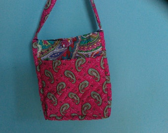 Over the shoulder Handmade Quilted Purse #103
