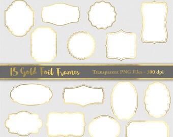 gold foil frame clipart gold wedding frame gold tags digital clip art frames golden edge gold frame clipart golden border