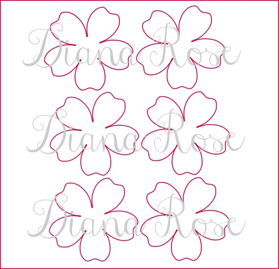 Printable Paper Rose Templates DIY paper flowers Printable