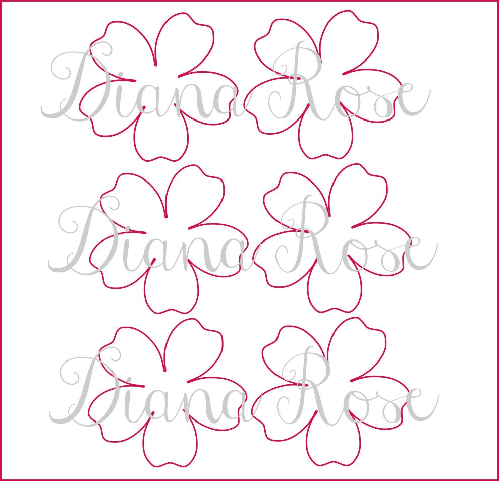 Printable paper rose templates diy paper flowers printable for Free printable paper flower templates