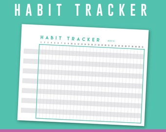 Habit / Goal Tracker Printable Regular Happy Planner Undated Monthly / Monthly Goals / DIY / inserts / chart / Bullet Journal