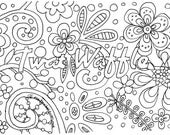 Items similar to twat waffle coloring page on etsy for Waffle coloring page