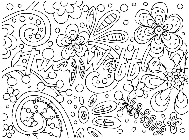 Twat waffle coloring page by jenniferlexwojnar on etsy for Waffle coloring page