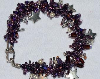 Starry Nights-Purple Bracelet
