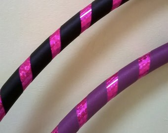 Adult Intermediate/ Dance Hula Hoop. Grip and sparkle prism deco. Full size or collapsible / travel