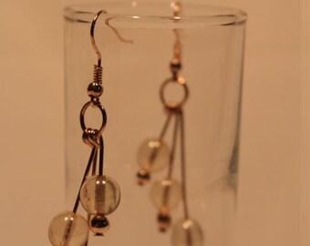 Swarovski globe earrings