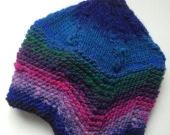 Flap Cap, 100% Wool, Kindermütze mit Ohrenklappen, Color #311
