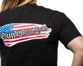 Gun Control - Flag Womens T Shirt
