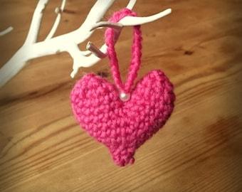 Heart Hanging Ornament in Crochet