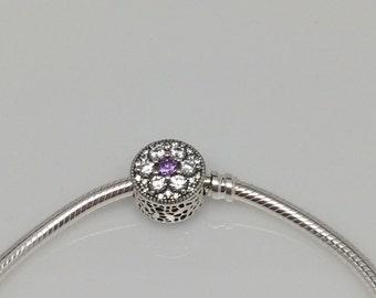New Pandora Forget Me Knot Purple Charm