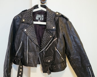 Vintage Heavy Leather Punk rock Jacket