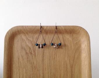 Earrings blue shells