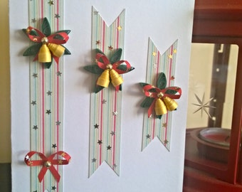 Christmas quilling greeting card