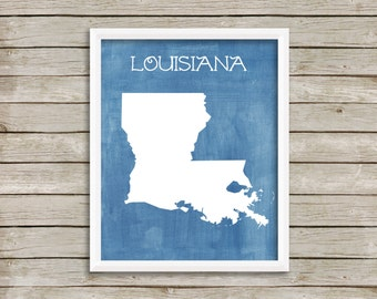 Custom Printable Digital Art - Louisiana, Come as You Are, Leave Different - 8x10
