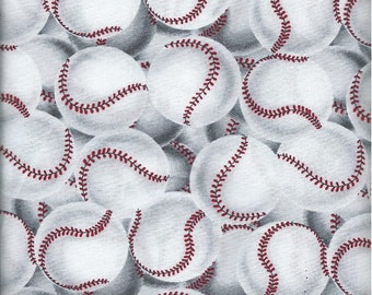 Baseball Fabric Quilting Crafting Home Decor