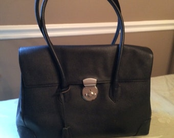 REDUCED  All Leather Large Black leather birkenstyle bag