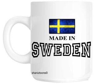 Made Born In Sweden Birthday Gift Mug shan620