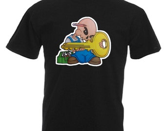 Locksmith Adults Mens Black T Shirt Sizes From Small - 3XL