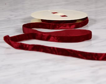 7 m of Ribbon 15mm, polyamide, Burgundy (0192)