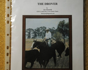 THE DROVER - sampler cross stitch chart