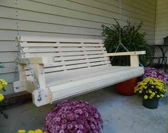 Porch Swing,Handmade Southern Style,4ft or 5ft,Free Shipping,Made in USA,Patio Swing