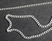 RESERVED for Michael - Argentium silver necklace chain - 1.5mm diamond cut curb chain with lobster clasp - hand finished, Argentium 960