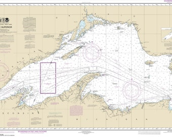 2016 Nautical Map of Lake Superior