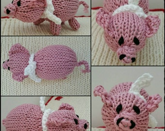 Knitted Piglet