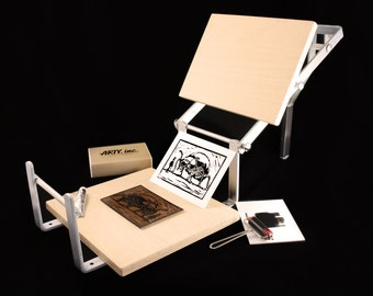 PRE-ORDER. Hand lever printing press for block printing. Superb for lino and wood cutting.