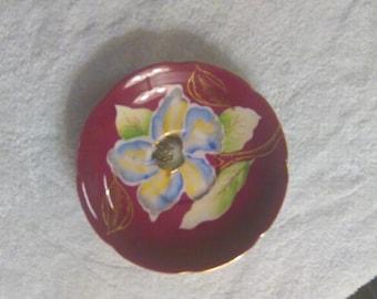 saji, hand painted plate.  occupied Japan