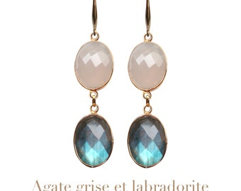 Mahé 2 stones earrings