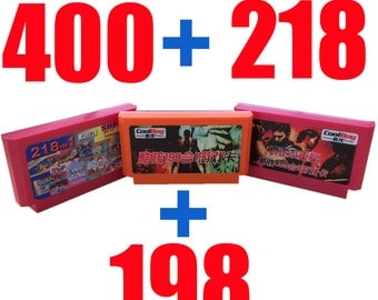 Famicom-Famiclone 400in1 + 218in1 + 198in1 Triple Video Game Cartridge