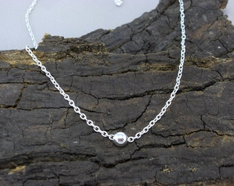 Necklace necklace ball Pearl silver