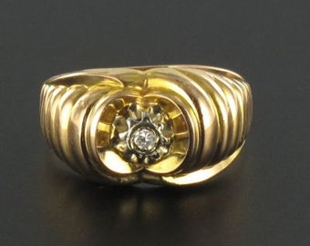 Gold Diamond vintage ring