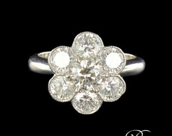 Marguerite ring Diamond White Gold