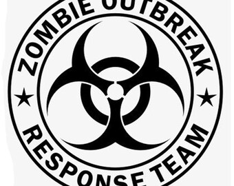 Zombie Response Team - Vinyl Decal Wall Art