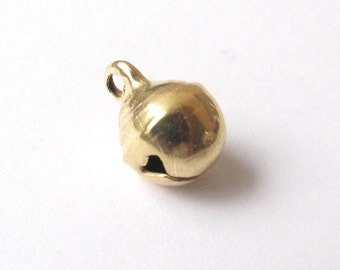 Antique bronze, silver or golden bell charm 6x9mm - 2 pieces