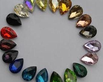 Teardrop Pointed Back Glass Crystal Rhinestones 10x14mm 13x18mm 18x25mm pointed back loose big rhinestones glass crystals beads