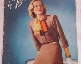 Vintage Beehive Knitting Pattern Book 1948 Needle craft Book number 135