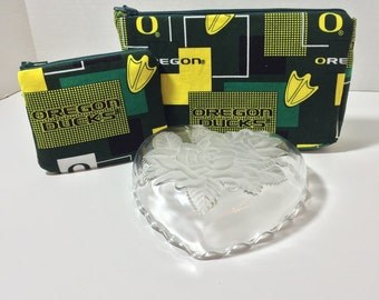 Oregon Ducks Handmade Cosmetic Bag & ID Card Purse Gift