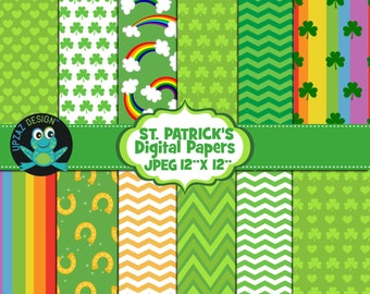 St- Patrick's Digital Papers, Commercial and Personal Use - UZ878