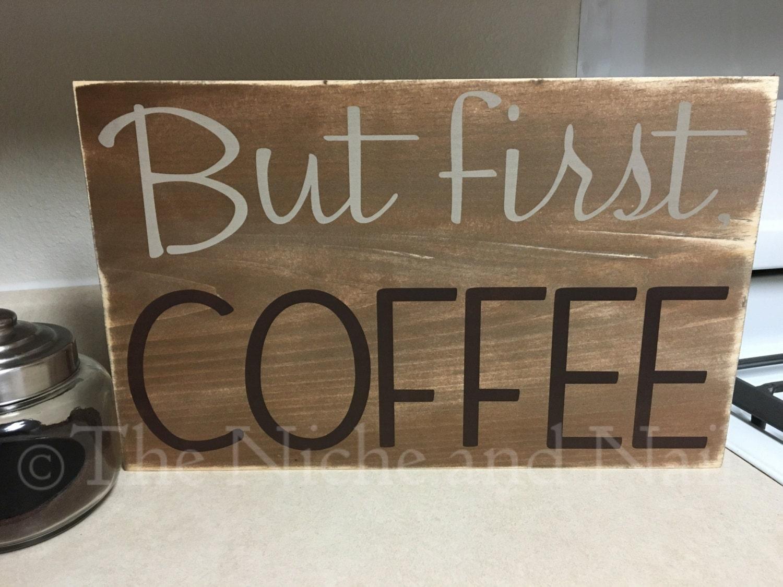 Coffee sign coffee bar decor rustic home decor gift for for Coffee bar decor