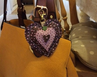 Heart bag clip