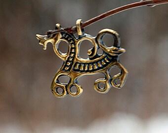 Amulet Horse Slavs, Balts 9-11 century Slavic pendant Slavic amulet Russia Slavic jewelry Medieval jevelry