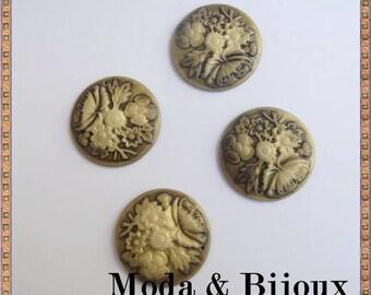 Cameo resin goldbrown 35 mm