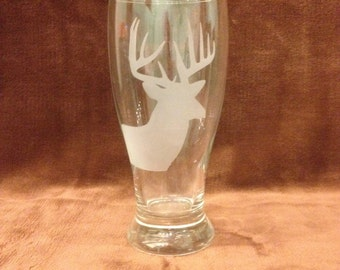 Sand Blasted Pub Glass 19 oz.